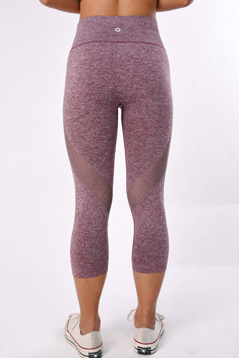 IMPULSE CROPPED LEGGING - RUBY RED