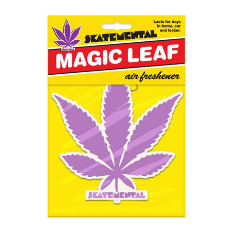 Skate Mental Air Freshener Weed Leaf - Purple