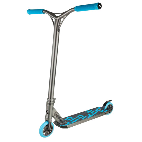 Sacrifice Scooters Flyte 115 Complete Stunt Scooter, Gunmetal/Blue