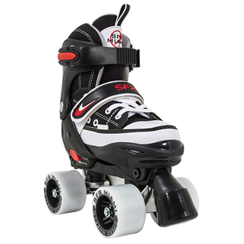 SFR Miami Junior Adjustable Quad Skates, Black