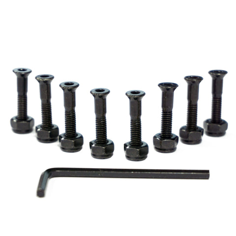 "CORE Skateboarding Truck Mounting Hardware Bolts 1"" - Black"