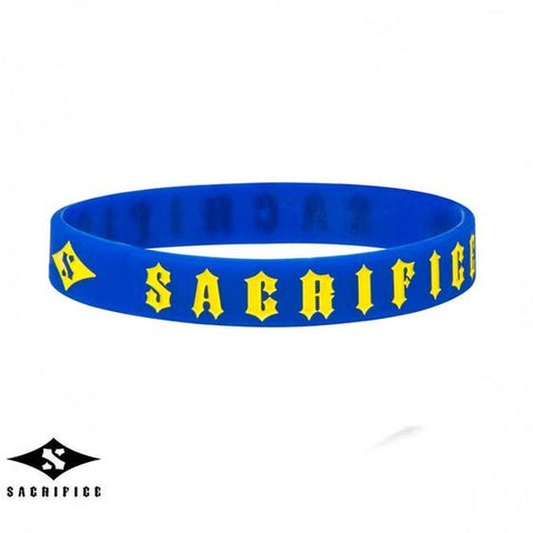 Sacrifice Rubber Wristband, Blue