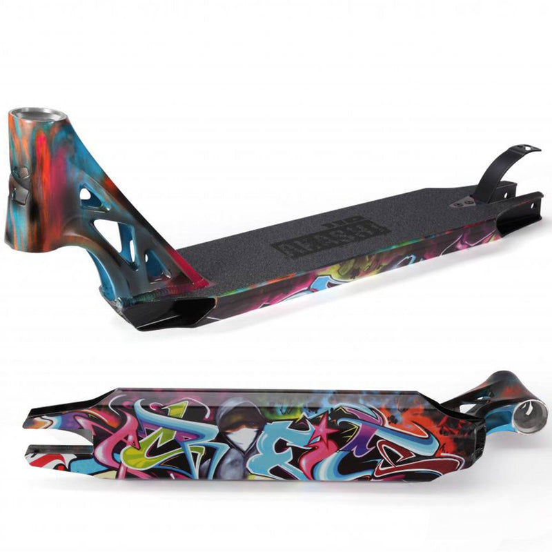 Sacrifice Scooters Akashi 110 Stunt Scooter Deck, Graffiti Stunt Scooter Sacrifice