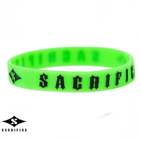 Sacrifice Rubber Wristband, Green