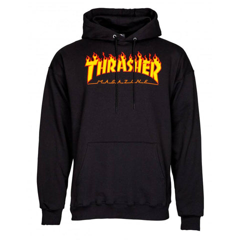 Thrasher Skateboard Magazine Hoodie, Black/Flame