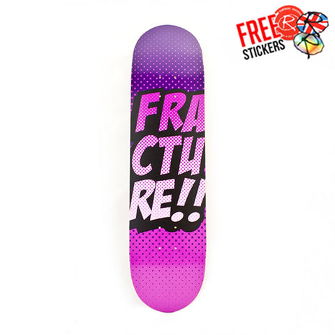 Fracture Skateboards Comic VT Deck, 8.0