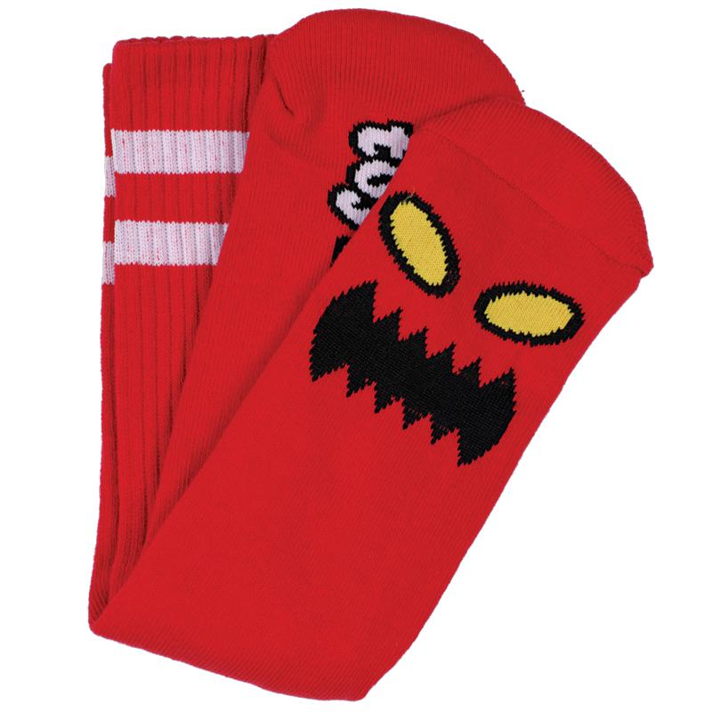 Toy Machine Monster Face Sock, Red Clothing Toy Machine