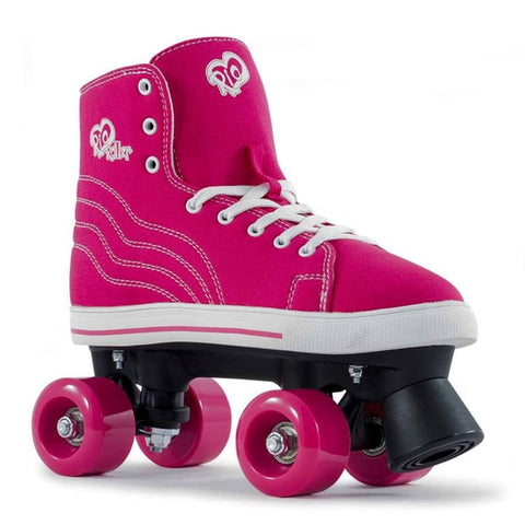 Rio Roller Canvas Kids Skates, Pink, UK3