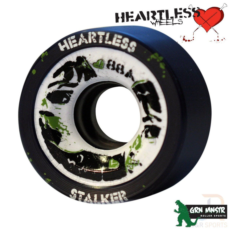 Heartless Derby Wheels Stalker/Midnight - 59mm/88a (4 pack) Quad Skates Heartless