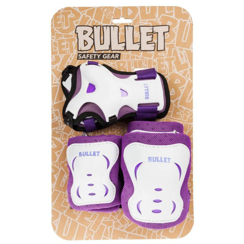 Bullet Triple Skate Pad Set, Purple Protection Bullet M JR