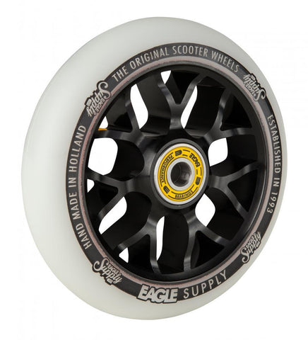 Eagle Supply 110mm Pro Stunt Scooter Wheel, Standard X6 Core - Black/White