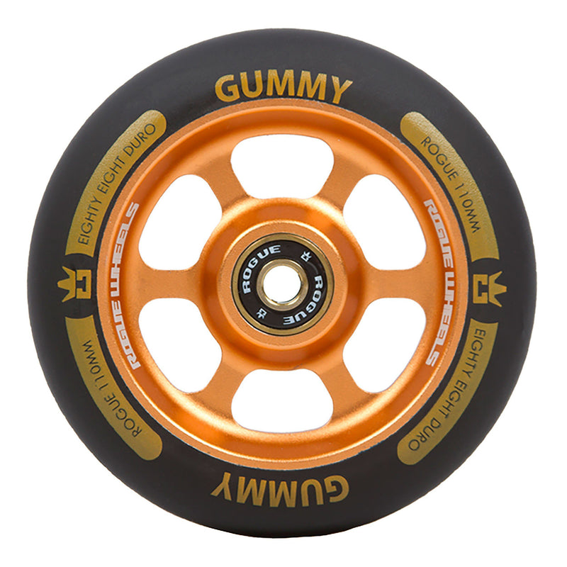 ROGUE Gummy Scooter Wheels (PAIR), Orange/Black Stunt Scooter Rogue