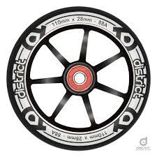 District Scooters 110mm LP 28mm Wide Alloy Core Wheel - Black / Black Stunt Scooter District