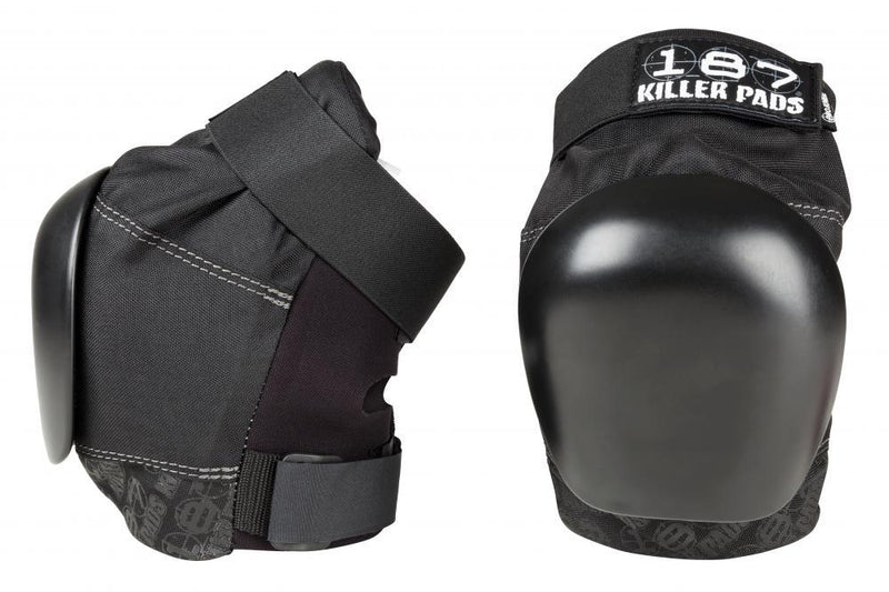 187 Killer Pads Pro Knee Pads, Black/Black Protection 187