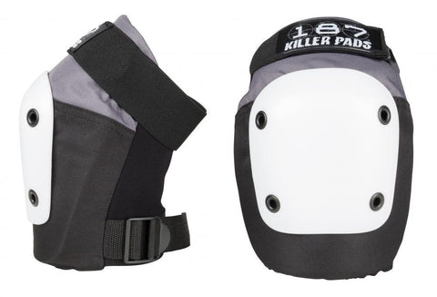 187 Killer Pads Fly Knee Pads, Grey/Black/White