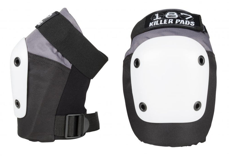 187 Killer Pads Fly Knee Pads, Grey/Black/White Protection 187