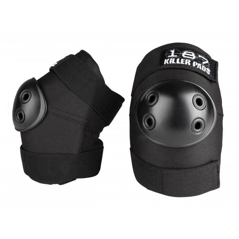 187 Protection Standard Elbow Pads, Black/Black Protection 187