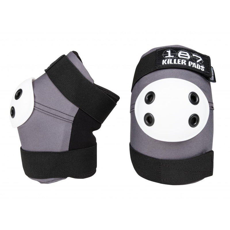 187 Protection Standard Elbow Pads, Grey/Black/White Protection 187