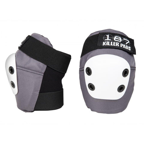 187 Protection Slim Elbow Pads, Grey/Black/White