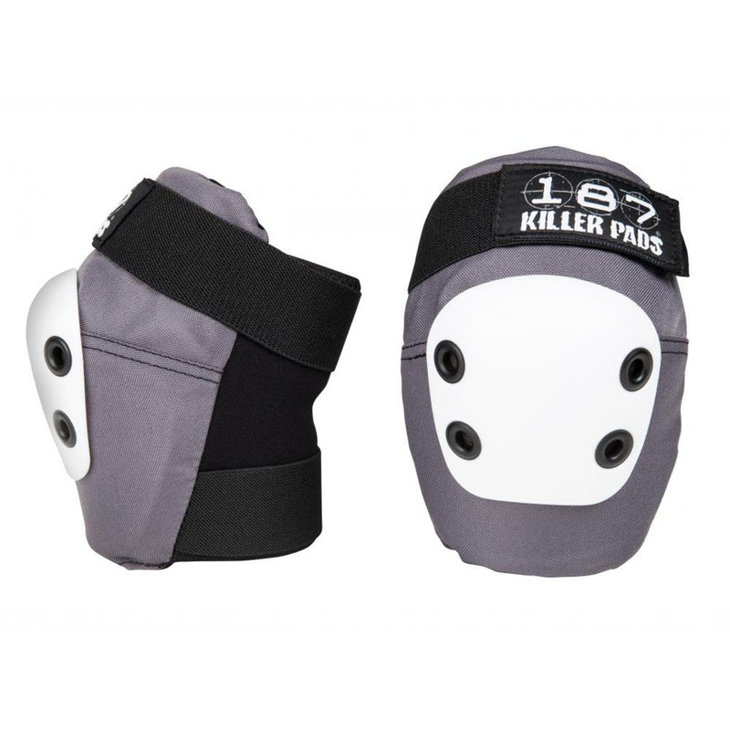187 Protection Slim Elbow Pads, Grey/Black/White Protection 187