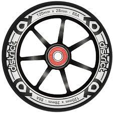 District Scooters 120mm LP 28mm Wide Alloy Core Wheel - Black / Black