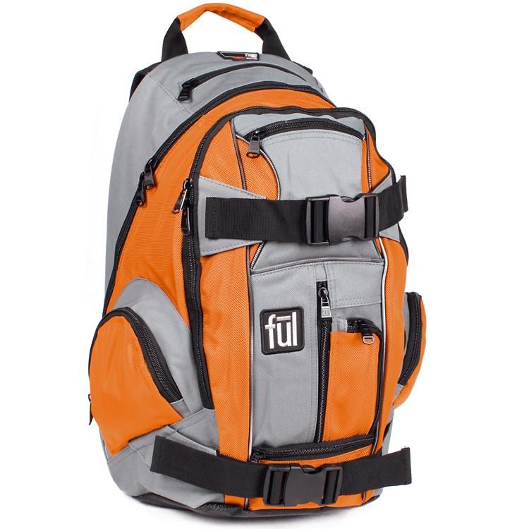 FUL Overton Skateboard Backpack - Orange Accessories FUL