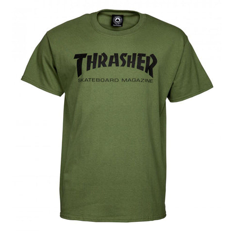 Thrasher Skateboard Magazine T-Shirt, Army Green