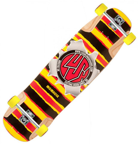 Lush Longboards Burner, Red/Yellow