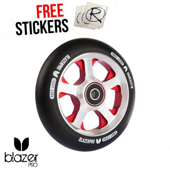 Blazer Pro XT Scooter Wheel 110mm, Black/Red/Silver Stunt Scooter Blazer Pro