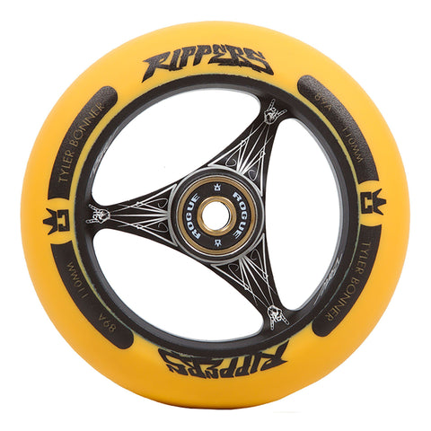 ROGUE TBone Ripper Scooter Wheels (PAIR), Black/Orange