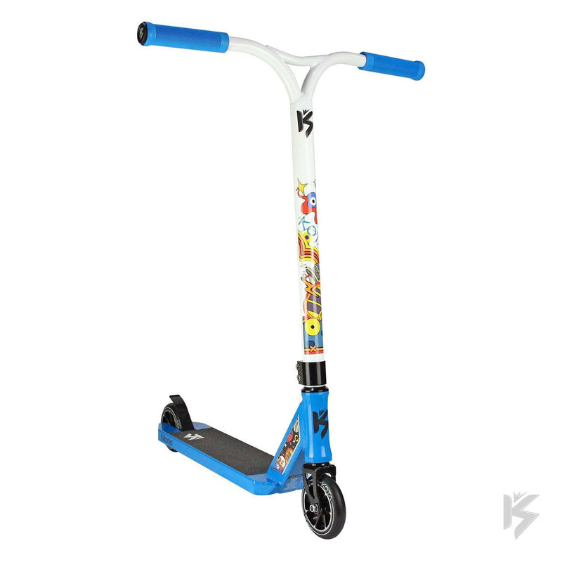 Kota Scooters Mini Mania Complete Stunt Scooter, Blue/White Stunt Scooter KOTA