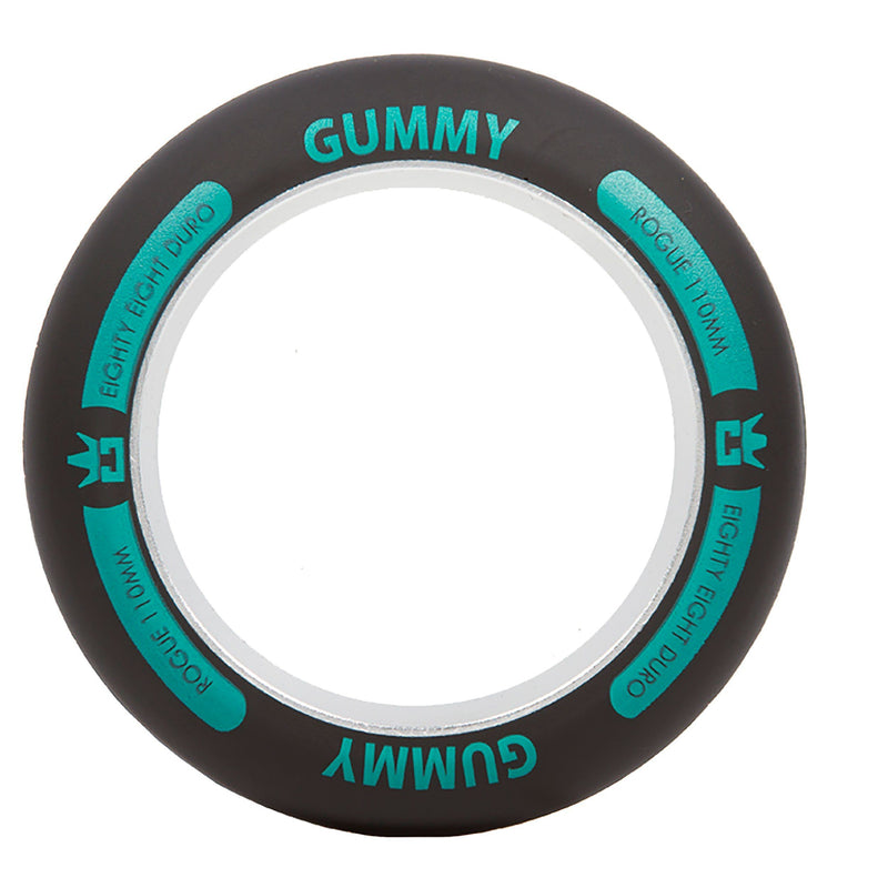 ROGUE Ultrex Gummy Scooter Wheel Ring (Single) - Black/Aqua Stunt Scooter Rogue
