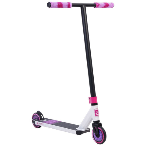 Invert Supreme Mini 1-4-8 Complete Stunt Scooter, White, Black, Pink