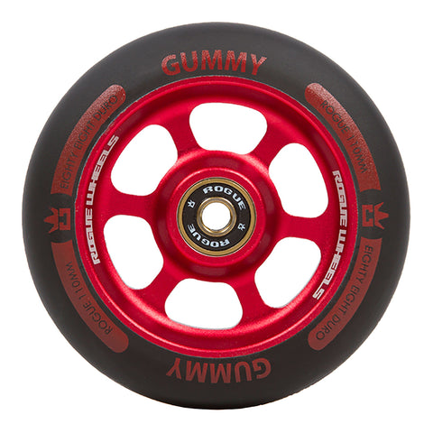 ROGUE Gummy Scooter Wheels (PAIR), Red/Black