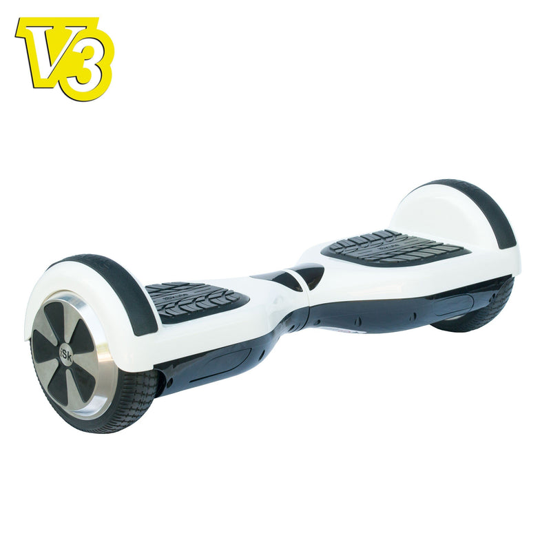 iSkute Balance Board V3 - White/Black Electric Scooter iSkute