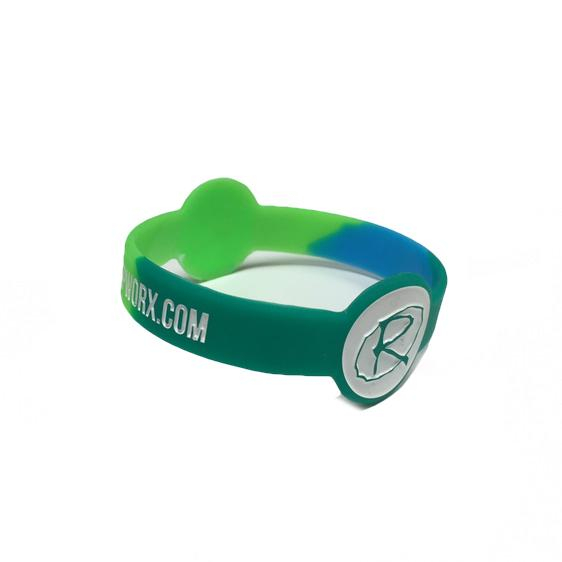 Rampworx Rubber Wristband, Green/Teal Accessories Rampworx
