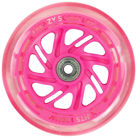 Frenzy 3 Wheel Light Up Scooter Wheel Pink - 120mm