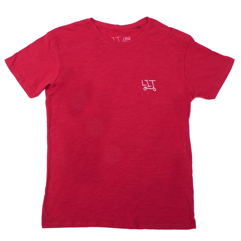 "UNDIALED ""Lit"" Classic T-Shirt - Red Clothing Undialed M"