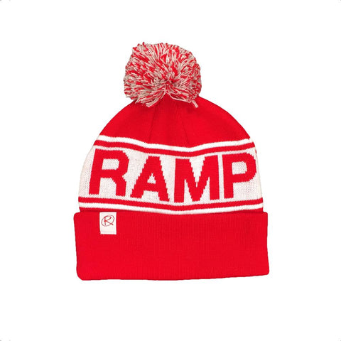 Rampworx Skatepark Bobble Hat, Red/White