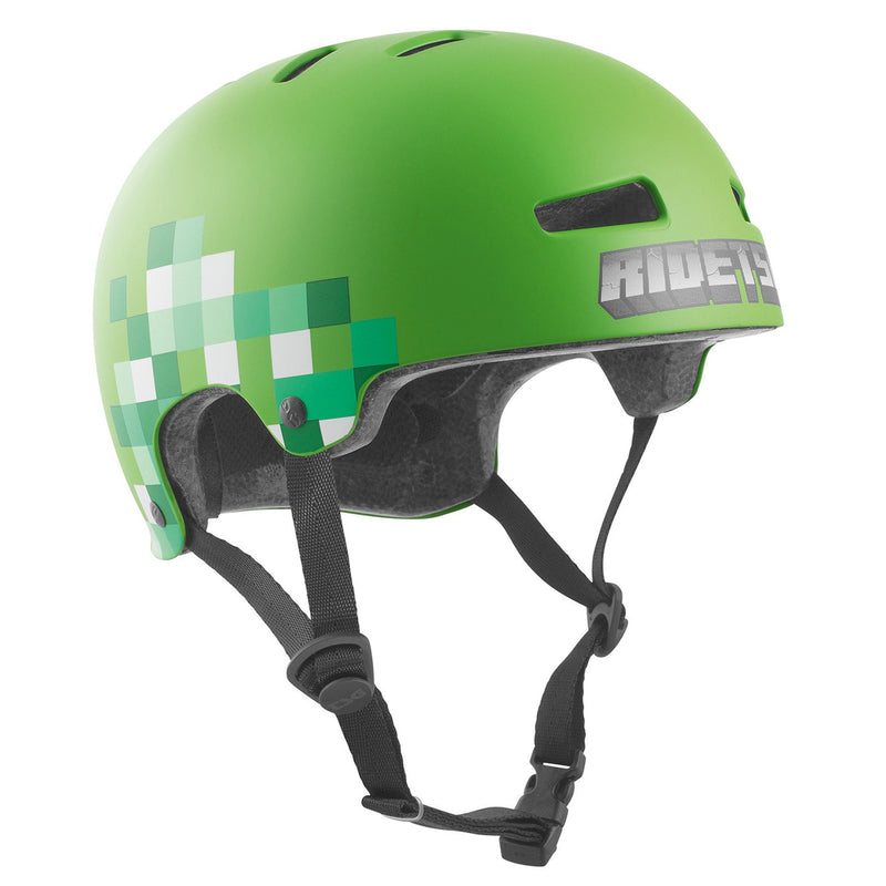 TSG Protection Evolution Skate/BMX Helmet, Minecraft Protection TSG S/M