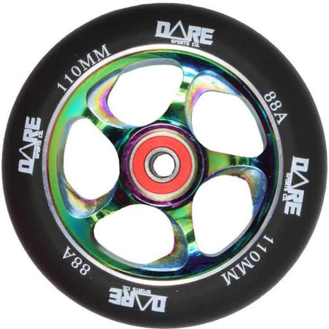 Dare Sports Stunt Scooter Wheel 110mm, Black/Neochrome