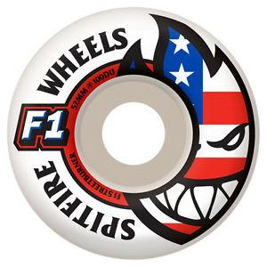 Spitfire Wheels FlagHead Logo 52mm, White