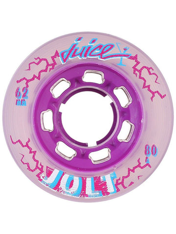 Juice Smoothie Roller Skate Wheels Blueberry 64mm 80a, 4-Pack