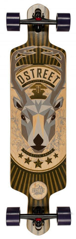 D-Street Longboards Stag Drop, Brown