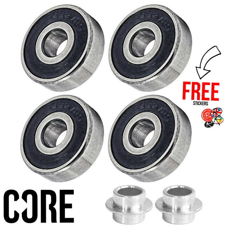 CORE Stunt Scooter Replacement Bearings Set 4 Pack, ABEC 7 Skates CORE