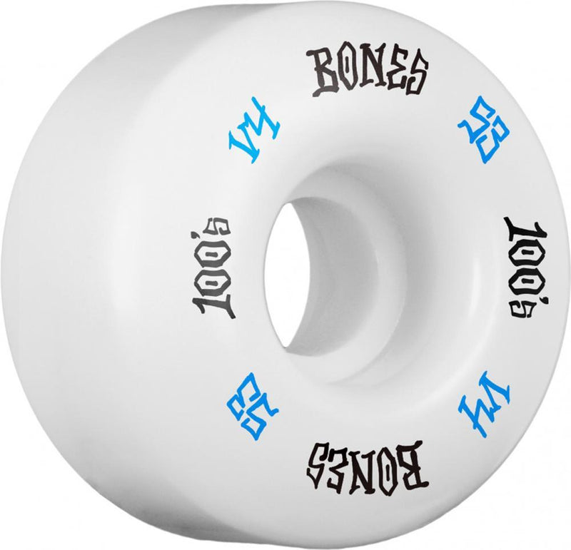 Bones Skateboard Wheels 53mm Wheels, 100's #12 V4 Skateboard Wheels Bones