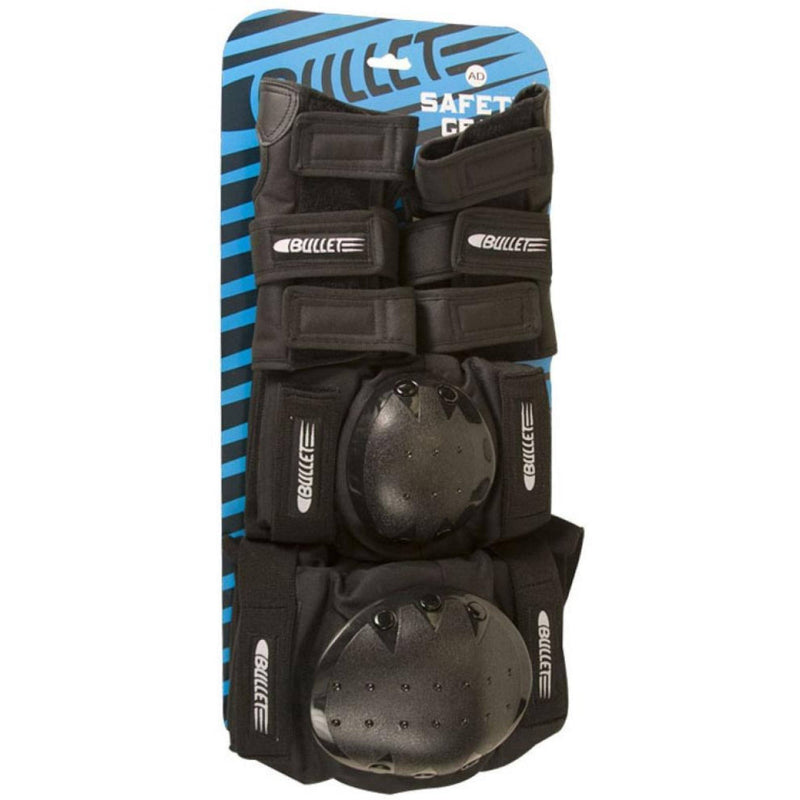 Bullet Combo Deluxe Triple Pad Set, Black Protection Bullet Junior