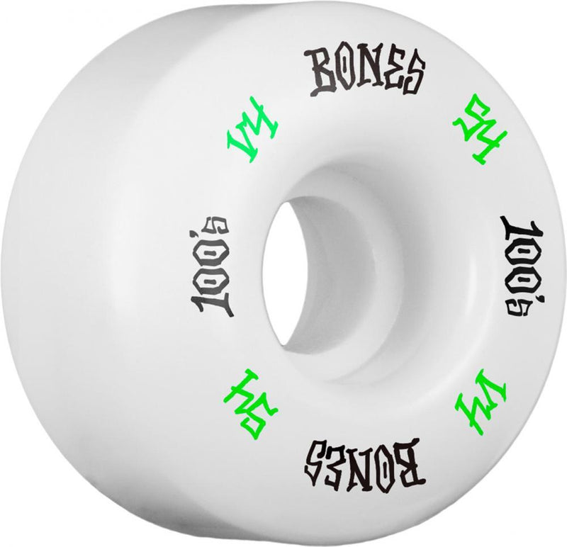 Bones Skateboard Wheels 54mm Wheels, 100's #12 V4 Skateboard Wheels Bones