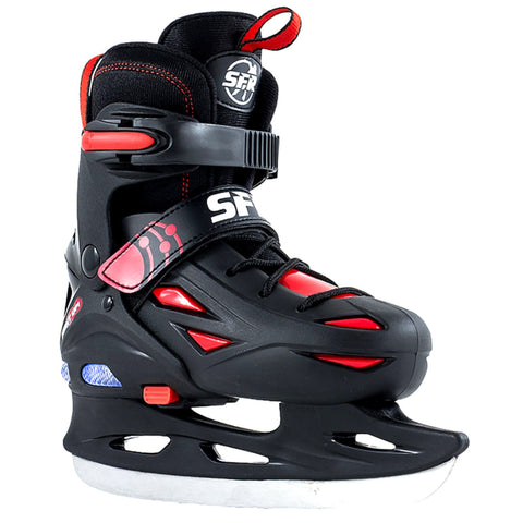 SFR Ice Skates, Eclipse Light Up Skates, Black/Red