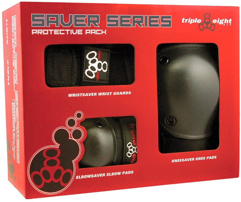 Triple 8 Saver Series Triple Pad Set (Knee, Elbow, Wrist) Protection Triple 8 Large